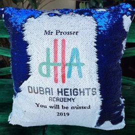 Dubai Heights Academy – Sequinned Flip Cushion
