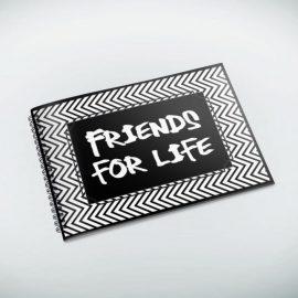 Friendship Leavers Book – Chevron Print by 3s Company